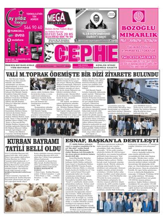 25.09.2014 Tarihli Cephe Gazetesi