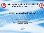 Bölüm Tanıtım Sunumu - Mühendislik Fakültesi