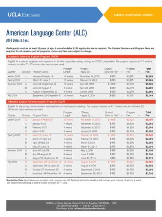 American Language Center (ALC)