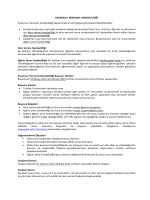 2014-2015 Personel Ders Verme ve Eğitim Alma