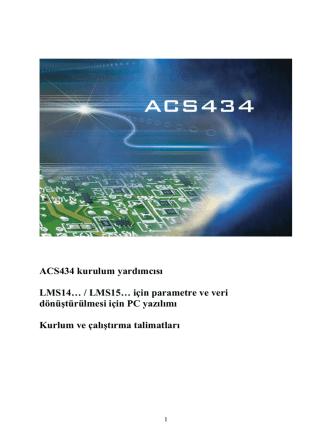 ACS434 kurulum yardımcısı LMS14… / LMS15… için