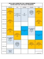 2013-2014 öğretim yılı bahar dönemi fatma nur akı haftalık program