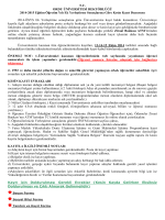 T.C. ORDU ÜNİVERSİTESİ REKTÖRLÜĞÜ 2014