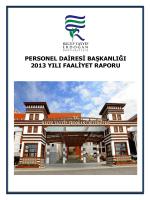 Personel Dairesi Başkanlığı 2013 Yılı Faaliyet Raporu