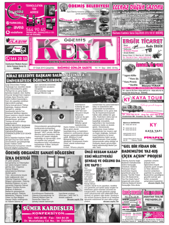 07-01-2015 Tarihli Kent Gazetesi