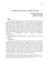 AYDOĞAN, Emel-YURTPINAR (ANTALYA) DOKUMALARI