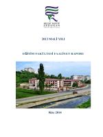 2013 Mali Yılı Eğitim Fakültesi Faaliyet Raporu
