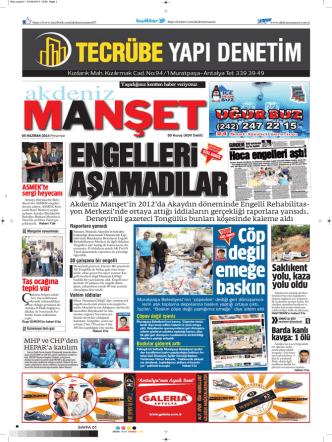 Çöp değil emeğe - Akdeniz Manşet