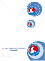 AD Hazır Gruplar - Profil Ayarları - Group Policy