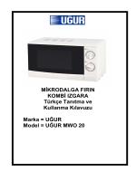 MWO 20 Mikrodalga Fırın Kullanım Kılavuzu