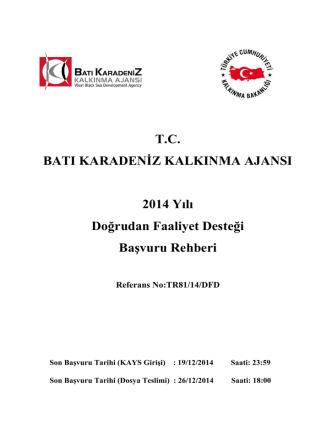 2014 DFD Başvuru Rehberi