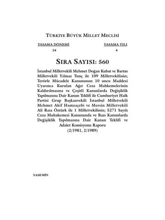 560 - Türkiye Büyük Millet Meclisi