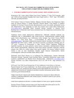 2013 Yılı Genel Kurul Toplantı Gündemleri ve Bilgilendirme Dökümanı