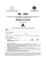 İB - 203 - Anadolu Üniversitesi Sınav Hizmetleri