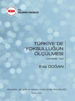 Türkiyede Yoksulluğun Ölçülmesi Tez