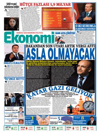 17 eylül 2014 - Ekonomi Gazetesi