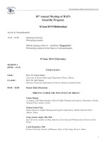 10th Annual Meeting of BAFS Scientific Program