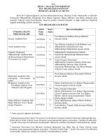 kilis fen-edebiyat fakültesi - Fen Bilimleri Enstitüsü