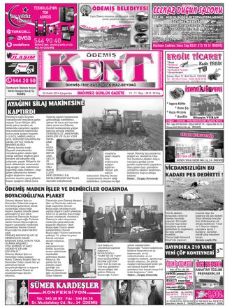 03-12-2014 Tarihli Kent Gazetesi