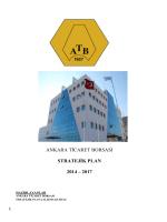 2014 - 2017 yıllarını içeren stratejik plan
