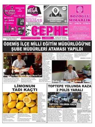 14.08.2014 Tarihli Cephe Gazetesi