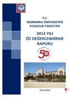 2013 Yılı Öz Değerlendirme Raporu