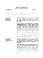 T.C. KOCAELİ ÜNİVERSİTESİ SENATO TOPLANTI TUTANAĞI