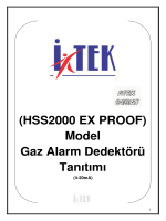 (HSS2000 EX PROOF) Model Gaz Alarm Dedektörü