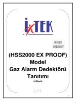 (HSS2000 EX PROOF) Model Gaz Alarm Dedektörü