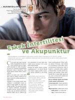ve Akupunktur Erkek İnfertilitesi - Turgut Özal Üniversitesi Hastanesi