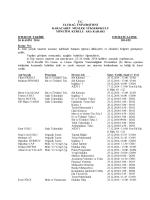 Mazeret Sınav Duyurusu - Karacabey Meslek Yüksekokulu