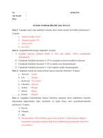 ZTO106 TOPRAK BİLİMİ ARA SINAVI Soru 1. Toprağın temel yapı