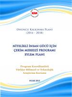 Nitelikli İnsan Gücü için Çekim Merkezi Programı Eylem Planı