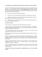 İlan Metni - Yönetim Hizmetleri Genel Müdürlüğü