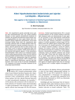 Lomitapide – Mipomersen - Türk Kardiyoloji Derneği Arşivi