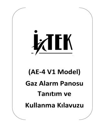 (AE Gaz Alarm Panos Kullanma Kılavu (AE-4 V1
