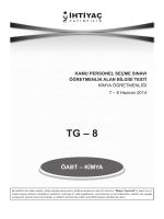 Kimya 8 - İhtiyaç Yayıncılık