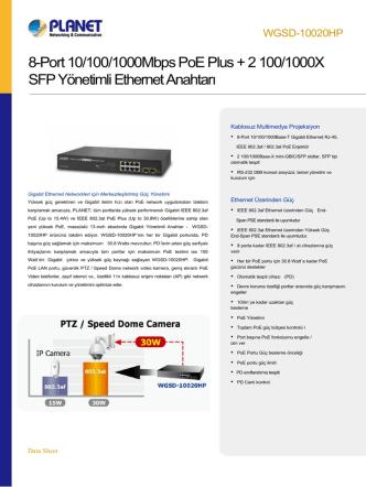 8-Port 10/100/1000Mbps PoE Plus + 2 100/1000X