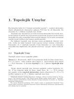 1. Topolojik Uzaylar