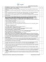 Checklist for Tourist Visa / Turistik Vize için basvuru kontrol listesi