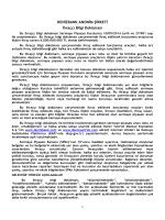 Ocak 2015 Denizbank Bonosu İhraççı Bilgi