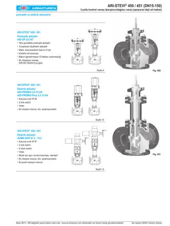 ARI-STEVI® 450 / 451 (DN15-150)