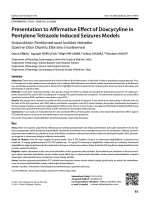 Presentation to Affirmative Effect of Doxcycyline in