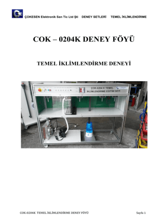 COK – 0204K DENEY FÖYÜ