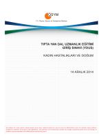 kadın hastalıkları ve doğum 14 aralık 2014
