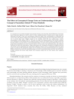 The Effect of Conceptual Change Texts on Understanding of Height