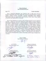 İmar Komisyonu 2014 Ekim Ayı Çalışma Raporu