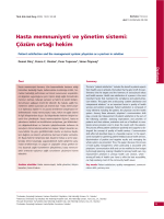 PDF - Hasta memnuniyeti ve yönetim sistemi: Çözüm ortağı hekim