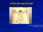 ENM 426 ERGONOMİ