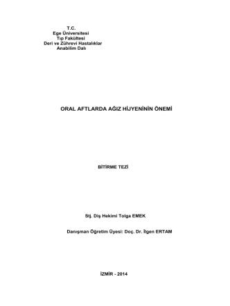 1239 - Ege Üniversitesi Diş Hekimliği Fakültesi